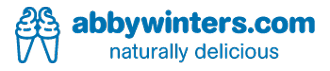 abbywinters.com logo cones blue